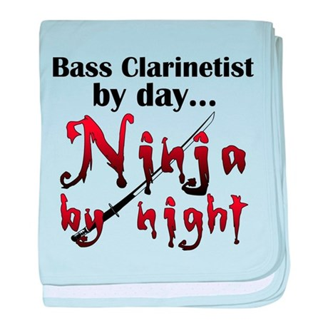 Bass Clarinet Ninja baby blanket