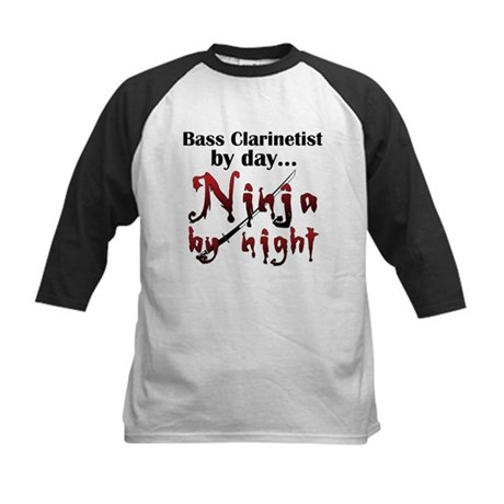 Bass Clarinet Ninja Kids Baseball Jersey