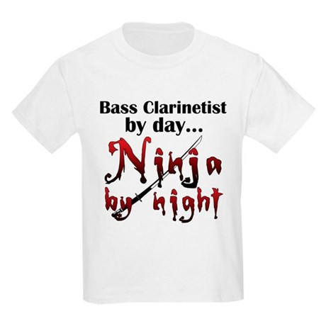 Bass Clarinet Ninja Kids Light T-Shirt