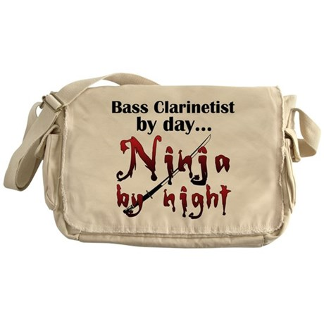 Bass Clarinet Ninja Messenger Bag