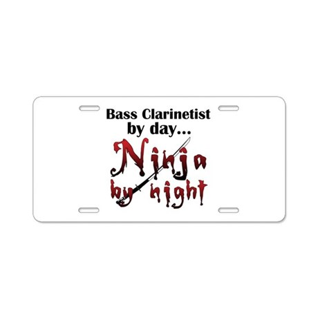 Bass Clarinet Ninja Aluminum License Plate