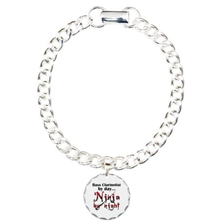 Bass Clarinet Ninja Charm Bracelet, One Charm
