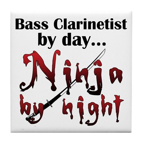 Bass Clarinet Ninja Tile Coaster