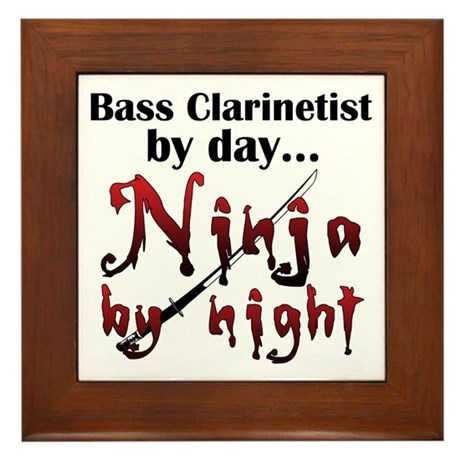 Bass Clarinet Ninja Framed Tile