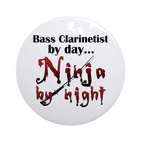 Bass Clarinet Ninja Ornament (Round)