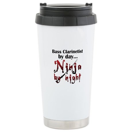 Bass Clarinet Ninja Ceramic Travel Mug