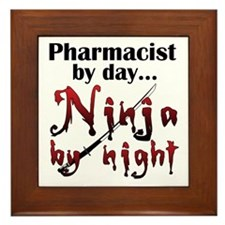 Pharmacist Ninja Framed Tile