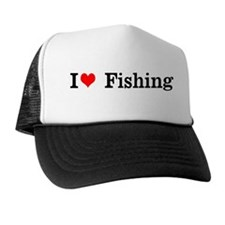 I Love heart Fishing Trucker Mesh Hat