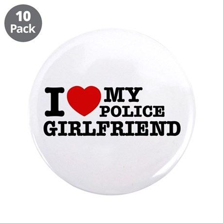 "Police Girlfriend 3.5"" Button (10 pack)"