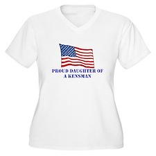 Proud Daughter - Plus Size V-Neck T-Shirt