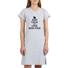 Keep Calm Shih Tzus Women's Nightshirt