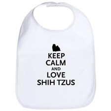 Keep Calm Shih Tzus Bib