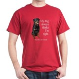 Rottie Vs Wife  T-Shirt