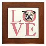 Love - Bulldog Framed Tile
