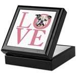 Love - Bulldog Keepsake Box