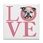 Love - Bulldog Tile Coaster