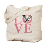 Love - Bulldog Tote Bag