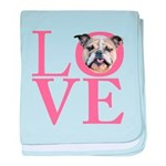 Love - Bulldog baby blanket