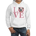 Love - Bulldog Hooded Sweatshirt