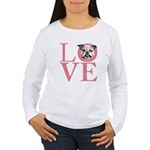 Love - Bulldog Women's Long Sleeve T-Shirt