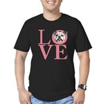 Love - Bulldog Men's Fitted T-Shirt (dark)