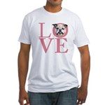 Love - Bulldog Fitted T-Shirt