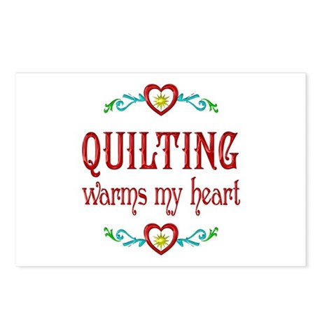 Quilting Warms My Heart Postcards (Package of 8)