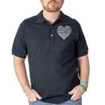 LOVE STINKS Men's Fitted T-Shirt (dark)