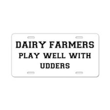 Dairy Farmers Aluminum License Plate
