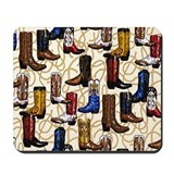 Cowboy boots Mousepad