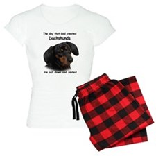God Created Dachshunds Pajamas
