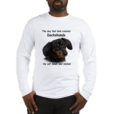 God Created Dachshunds Long Sleeve T-Shirt