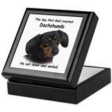 God Created Dachshunds Keepsake Box