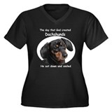 God Created Dachshunds Women's Plus Size V-Neck Da