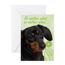 Dachshund Love/Support Card