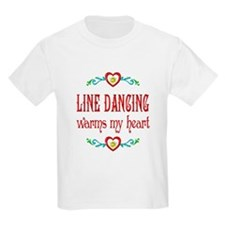 Line Dancing Warms Hearts T-Shirt