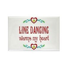 Line Dancing Warms Hearts Rectangle Magnet
