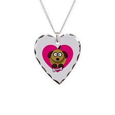 Valentines Puppy Love Necklace
