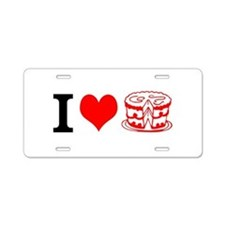 I LOVE CAKE! Aluminum License Plate