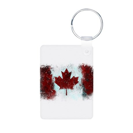Canadian Graffiti Aluminum Photo Keychain