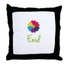 Enid Valentine Flower Throw Pillow