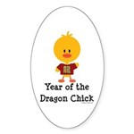 Year of the Dragon Chick Sticker (Oval 50 pk)