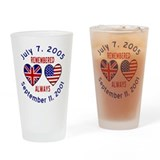 UK & USA Remembered Always Drinking Glass