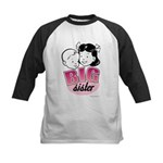 Big Sister - Retro Pink Kids Baseball Jersey