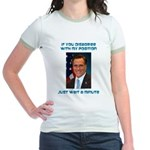 Wait a Minute Jr. Ringer T-Shirt