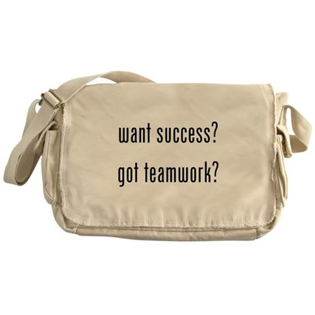 want success? got teamwork? Messenger Bag