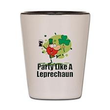 Party Like A Leprechaun Shot Glass