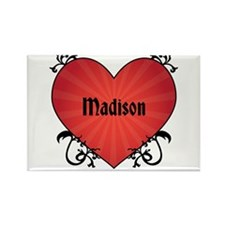 Custom Name Tattoo Heart Rectangle Magnet