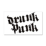 Drunk Punk Car Magnet 20 x 12
