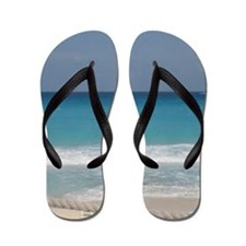 Unique Waves beach Flip Flops